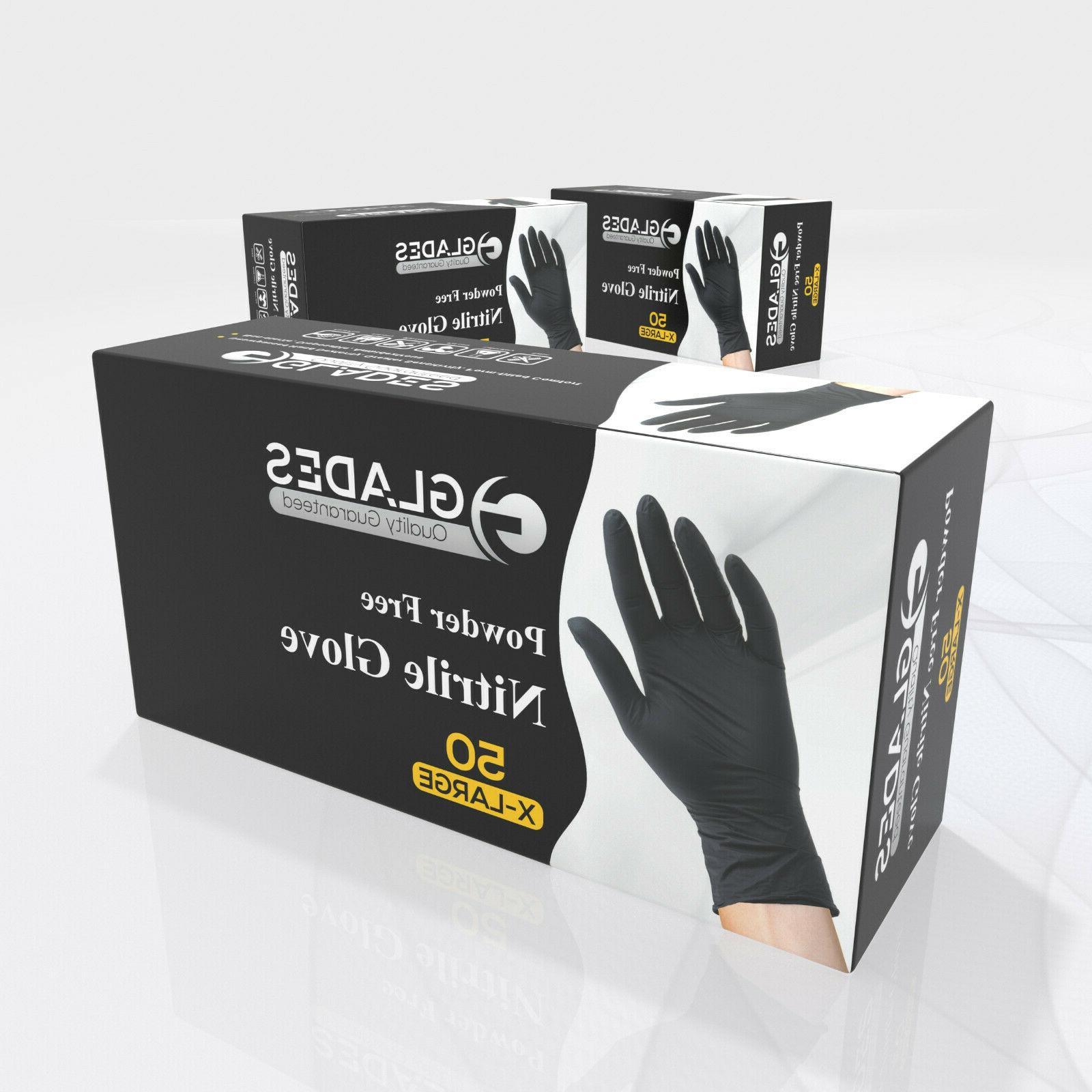 50 pcs black nitrile gloves powder free