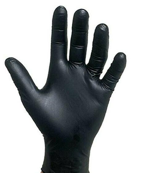 TATTOO Glove, 5mil, SKINTX BLACK Nitrile Medical, Powder-Fre
