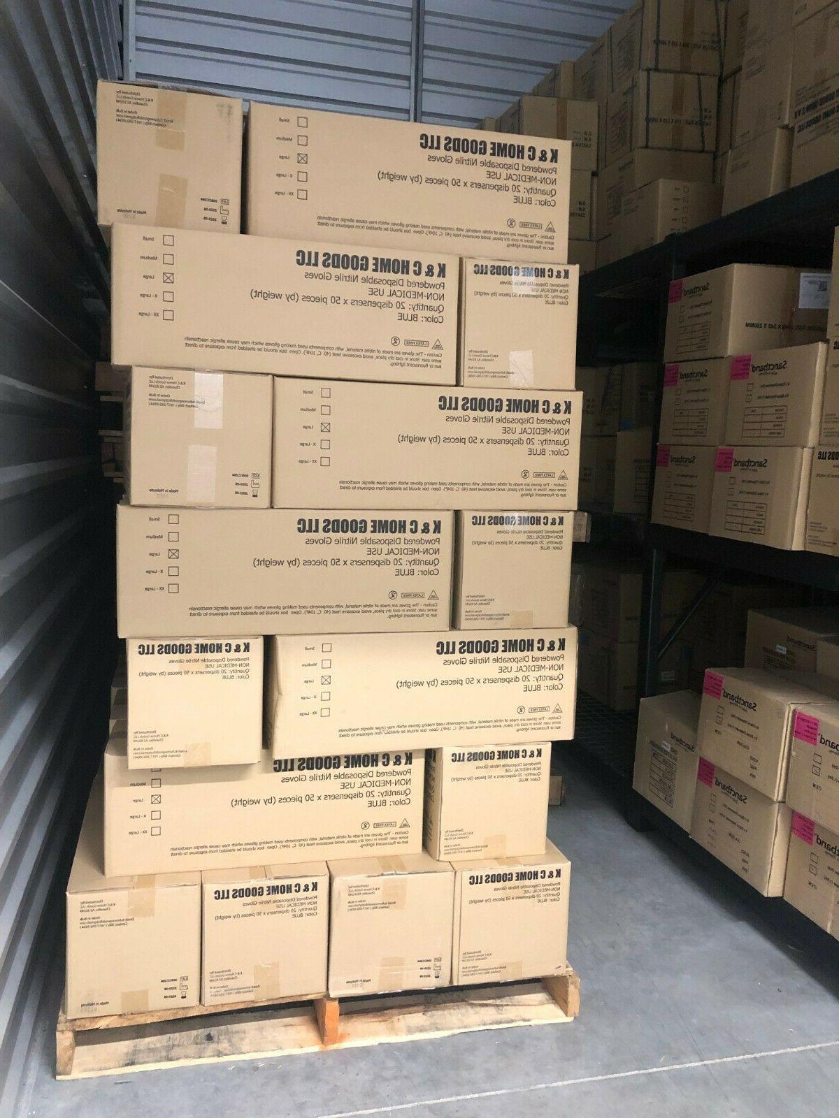 6 MIL 50/Box POWDERED Nitrile Gloves Latex/Viny