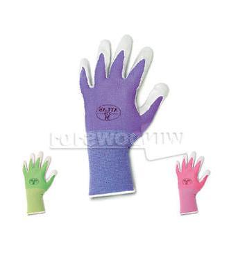 6 pairs 370 nitrile gloves medium garden