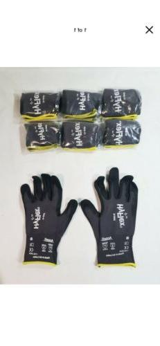 6 PAIRS of ANSELL HYFLEX 11-841 FOAM NITRILE COATED GLOVES i