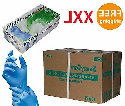 SunnyCare 8805 Nitrile Disposable Gloves Powder Free  XXL