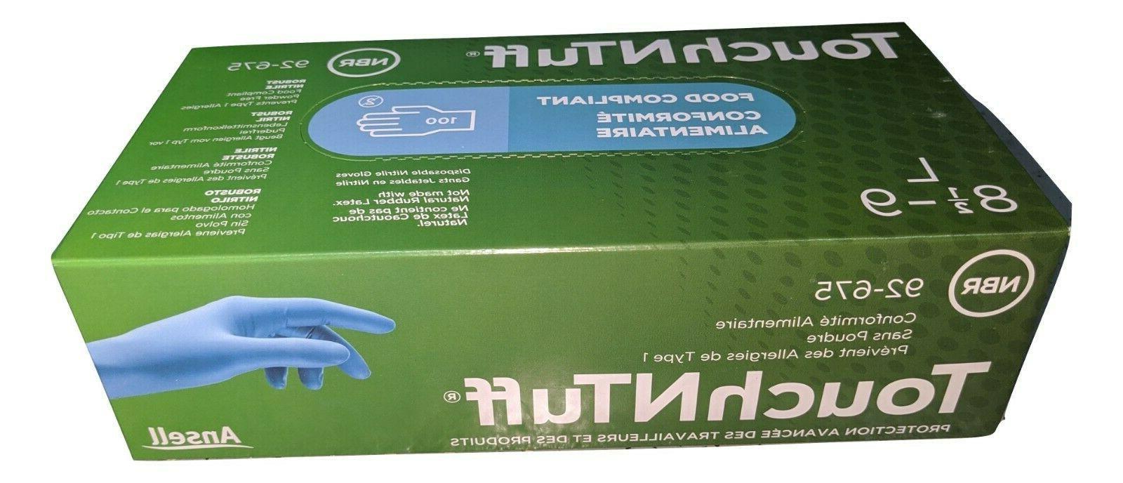 92 675 l touchntuff nitrile disposable gloves