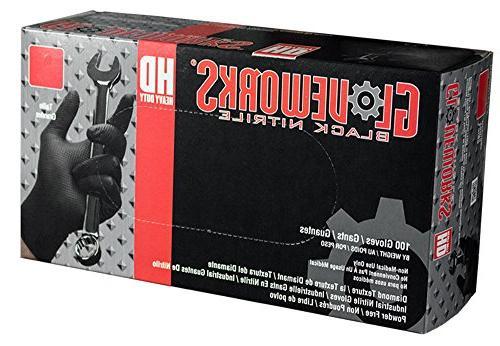 AMMEX - GWBN46100 - Nitrile Gloves - Gloveworks - HD, Dispos