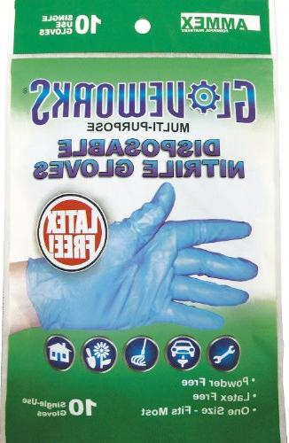 Nitrile Gloves Gloveworks - Free, Blue