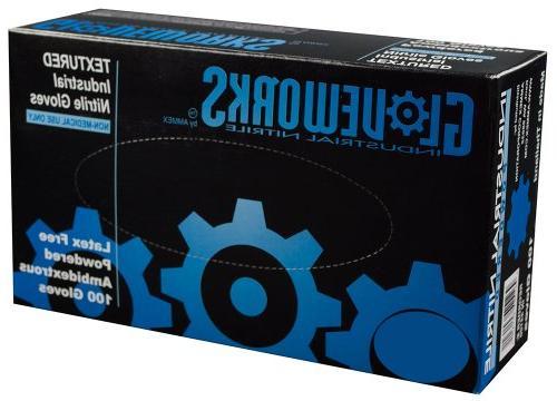 AMMEX - Gloveworks - Nitrile Gloves - Disposable, Powdered,