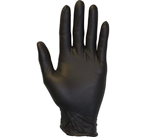 Black Nitrile Exam Gloves - Powder Free, Free, Non Food Safe,