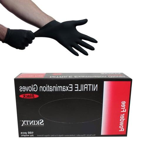 Black Nitrile Powder Free Medical Exam Tattoos Piercing Glov
