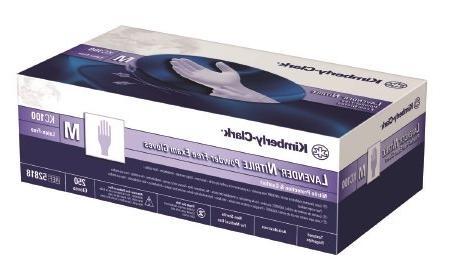 Halyard Health 52817 KC100 Lavender Nitrile Exam Glove, Powd