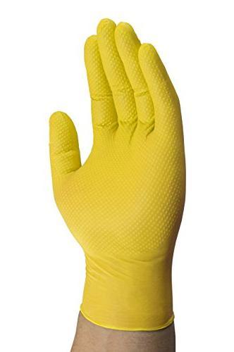 Mechanix Wear Disposable Free, Latex Textured Yellow