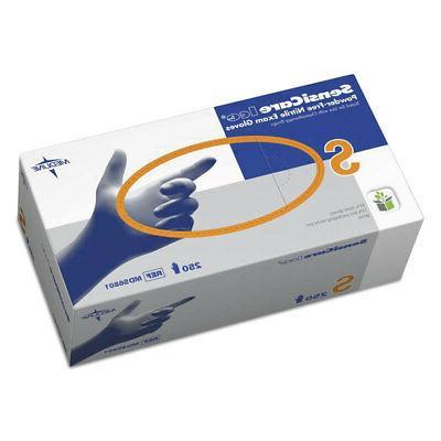 Medline MDS6801 SensiCare Ice Exam Glove, Powder-Free, Beade