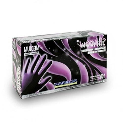 Shadow SHD935 Black Nitrile Powder-Free Exam Gloves 100 per