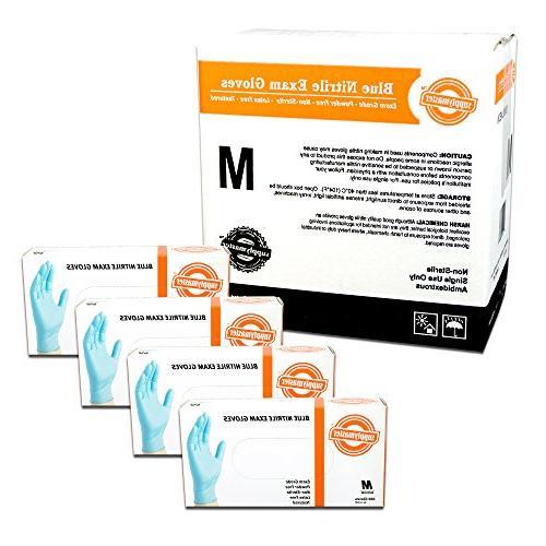 SupplyMaster - SMBLNE3M - Exam Nitrile Gloves - Disposable,