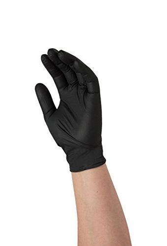 Ammex ABNPF Medical Exam Grade Latex Glove, Disposable, Powder Medium, Black