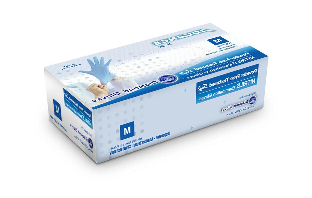 advance blue nitrile examination powder free 1