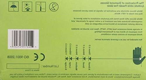 Diamond Powder-Free Textured Nitrile Examination Gloves, White, 3.9 X-Large, 100