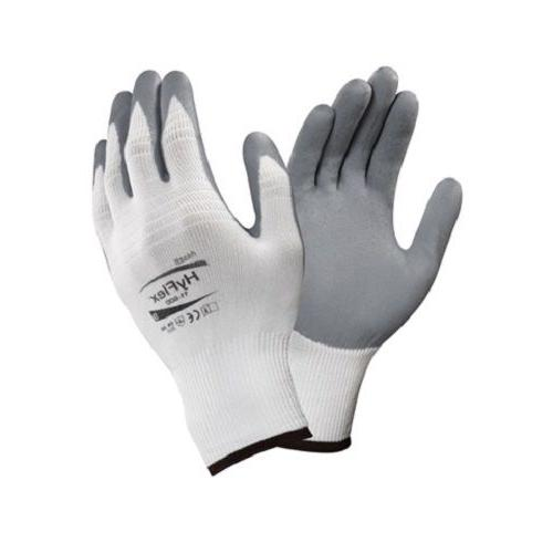 ansell hyflex foam nitrile coated palm gloves