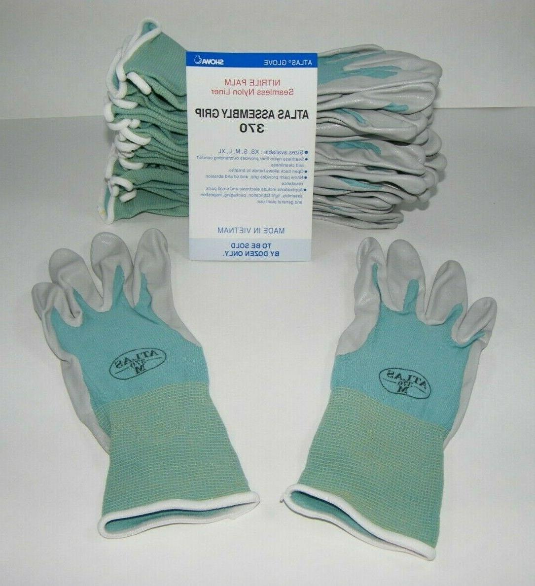 atlas 370 nitrile rubber palms work gloves