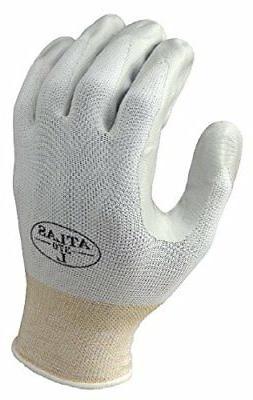 SHOWA Atlas 370W Nitrile Palm Coating Glove, White, Medium