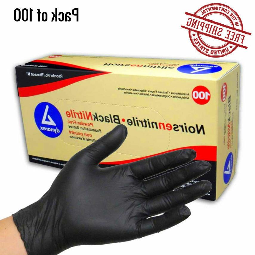 black gloves nitrile powder free latex rubber