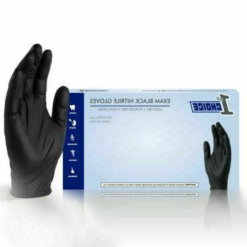 black medical nitrile exam latex free disposable
