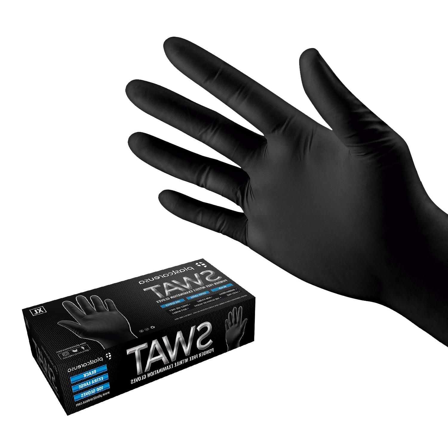 black nitrile disposable tattoo exam food cleaning
