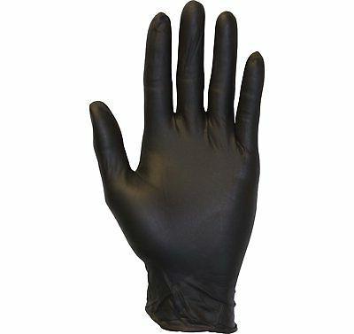 black nitrile exam gloves medical grade disposable powder fr