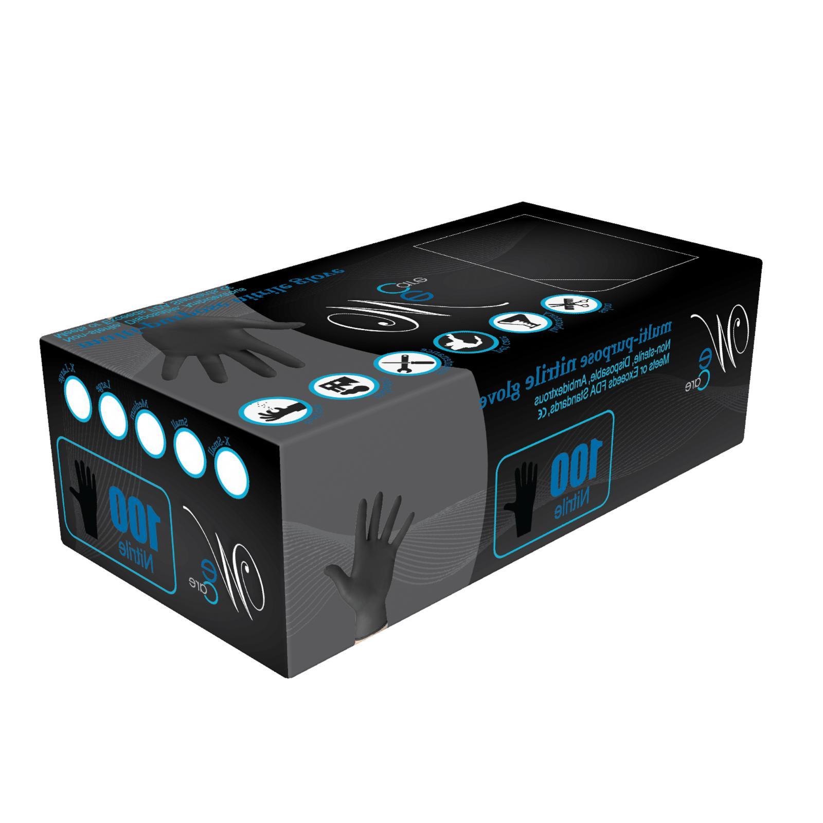 LARGE BLACK LATEX FREE, 100 PCS