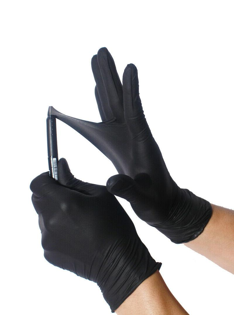 BLACK Nitrile Gloves ULTRA DURABLE  Powder free 50 / 100 / 1