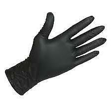 Black Nitrile Gloves  2 Boxes of 100 Maytex Corp Sensitouch