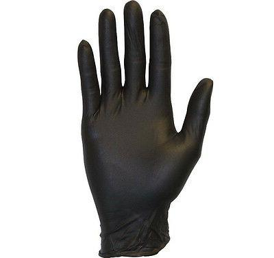 Black Exam Gloves Powder-Free Mil Thick Size