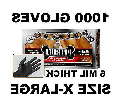 black nitrile gloves 6 mil powder free