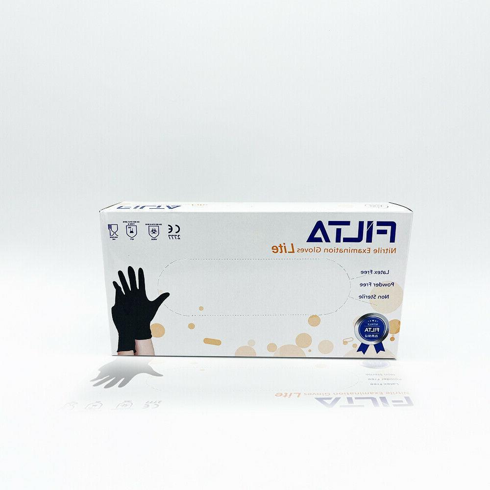 BLACK Nitrile Gloves / 100 / /