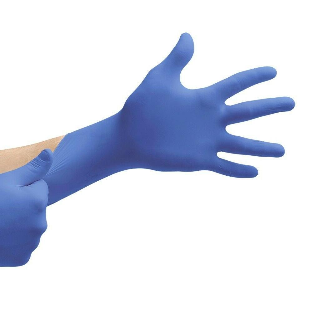 Nitrile Exam Gloves BLUE Powder Free {XS S M L XL} Latex Fre