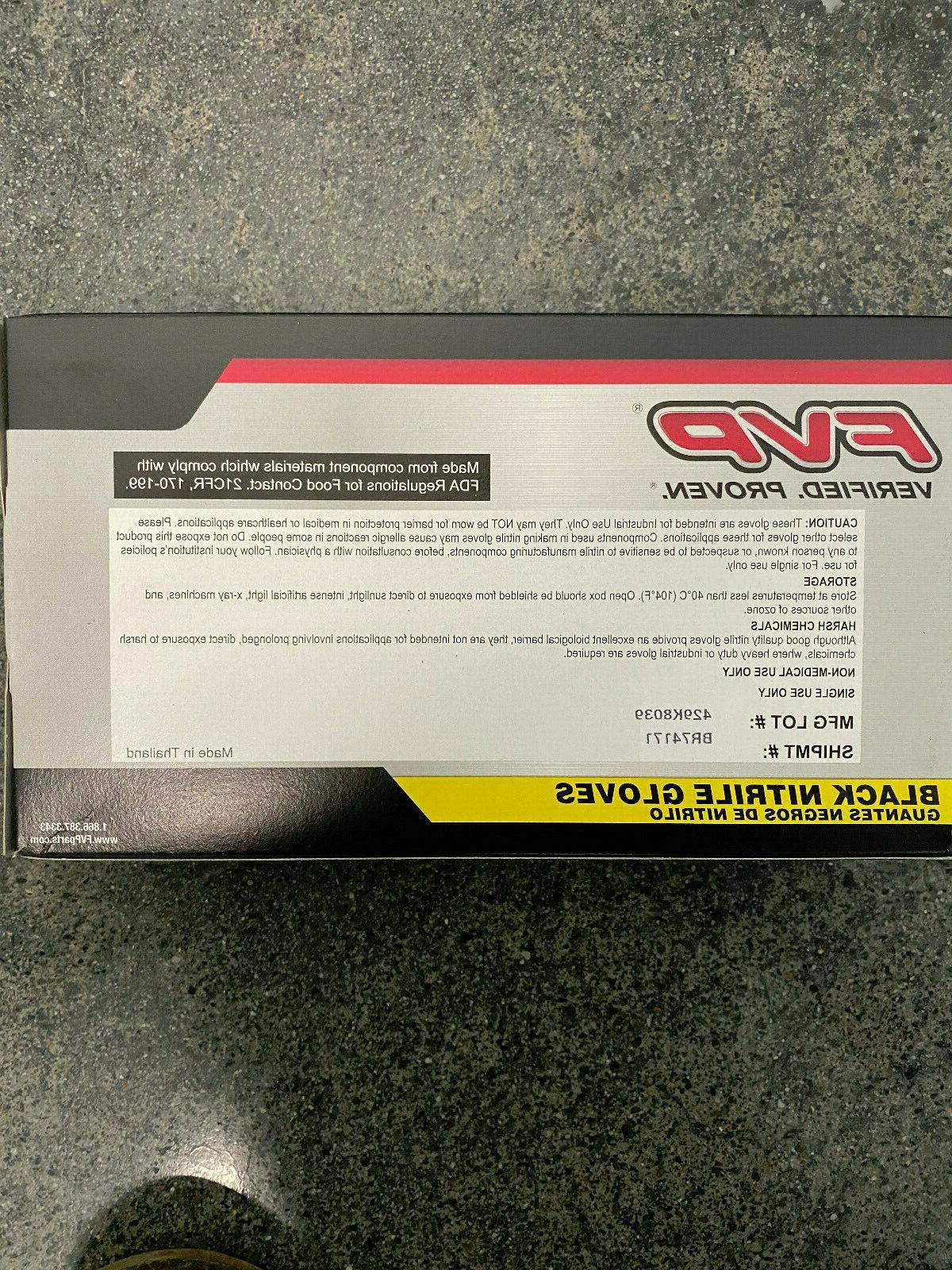 FVP Black Gloves Large Polymer Powder