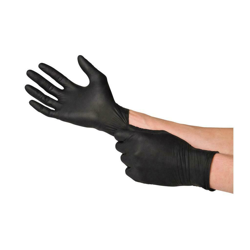 black nitrile gloves powder free gloves pvc