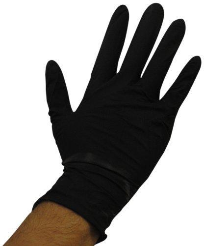 black nitrile medical grade gloves