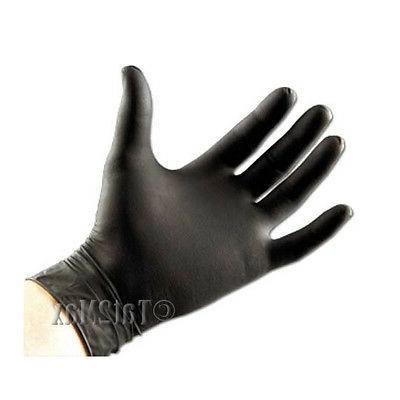 black nitrile pf exam disposable gloves blk50005