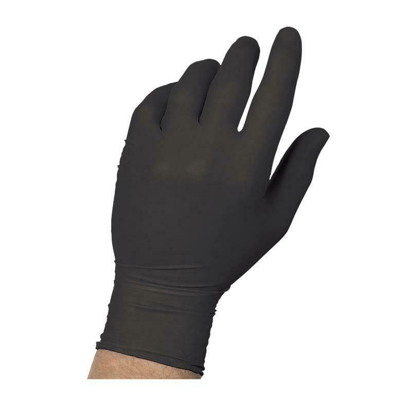 black nitrile powder free glove gloves 100
