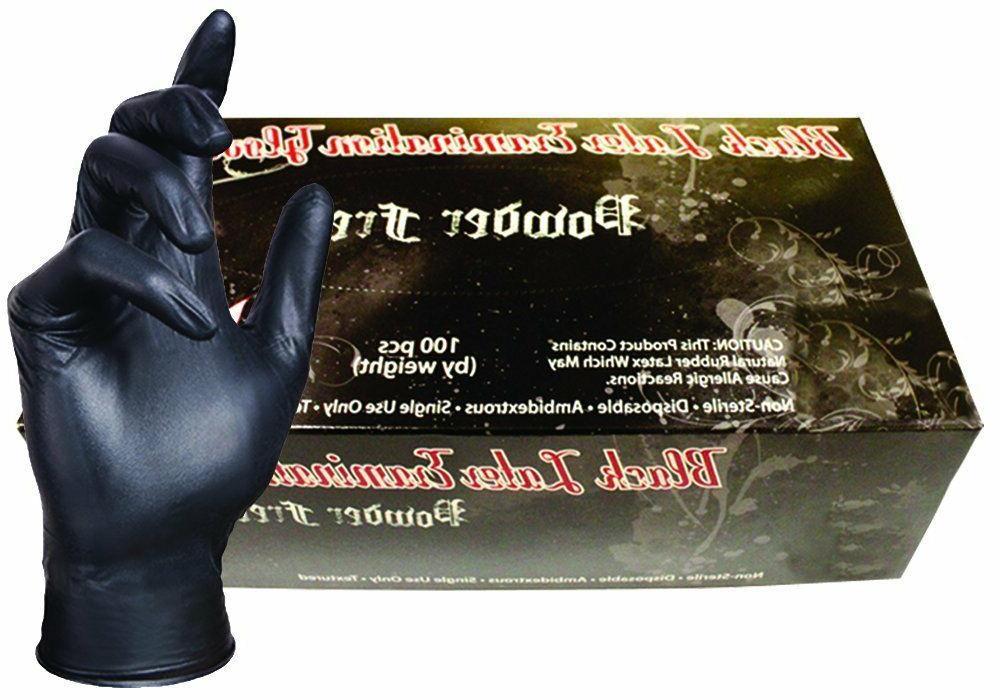 M SKINTX BLK50010-M-BX Nitrile Medical Grade Examination Gloves 5-5.5 mil