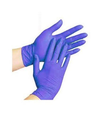 blue nitrile disposable medical exam