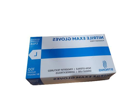 Blue Nitrile Exam Powder 100/box
