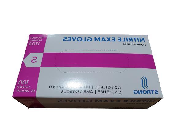 Blue Nitrile Gloves Powder 100/box