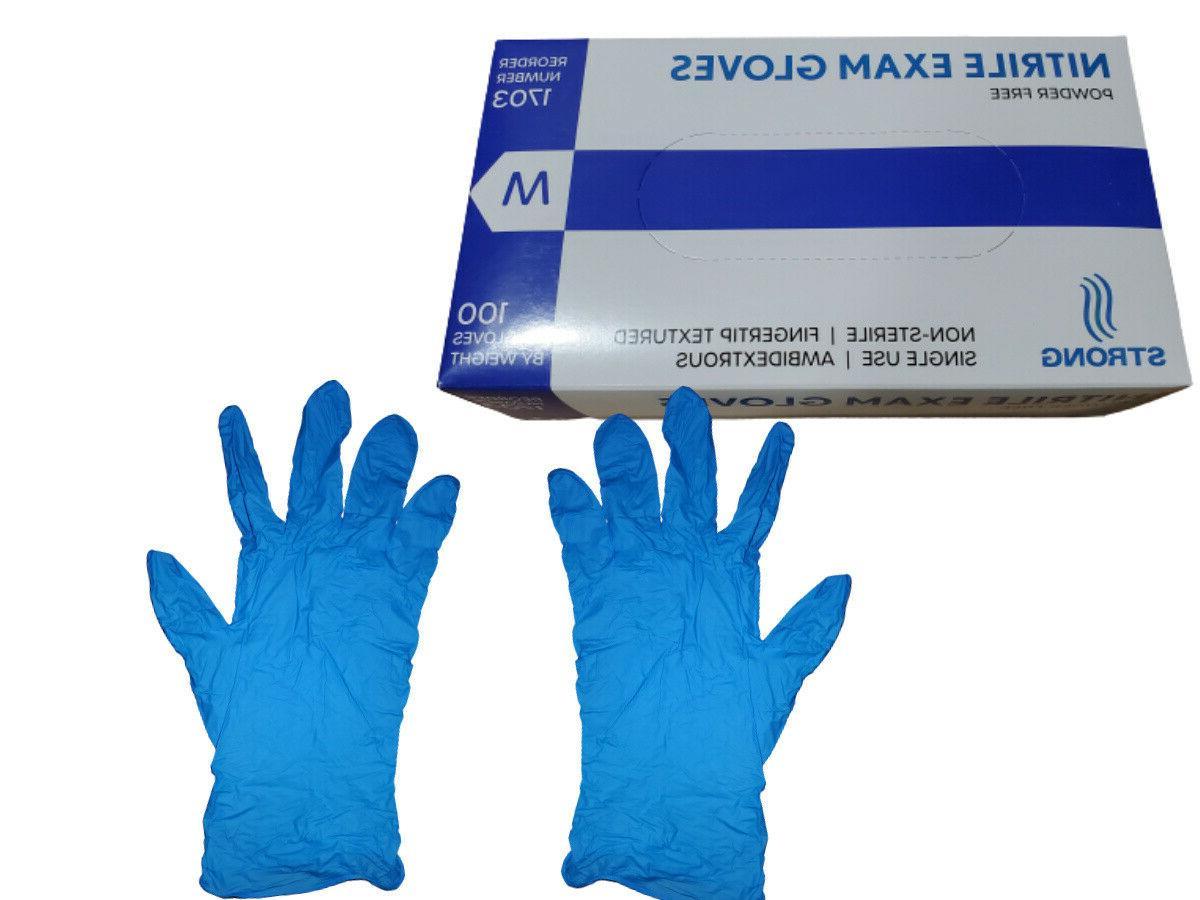 blue nitrile exam gloves powder free small