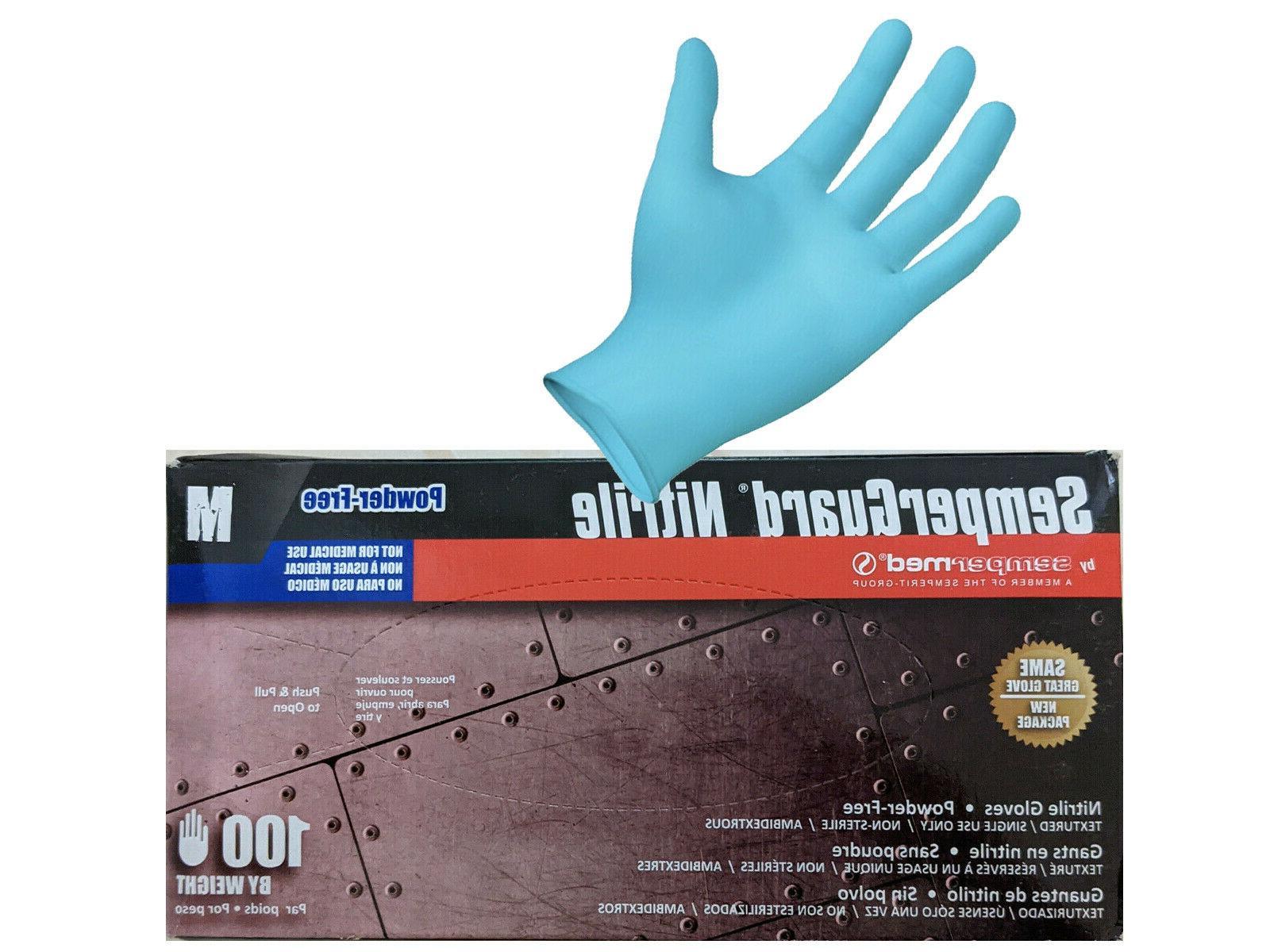 blue nitrile gloves mediumbox 100