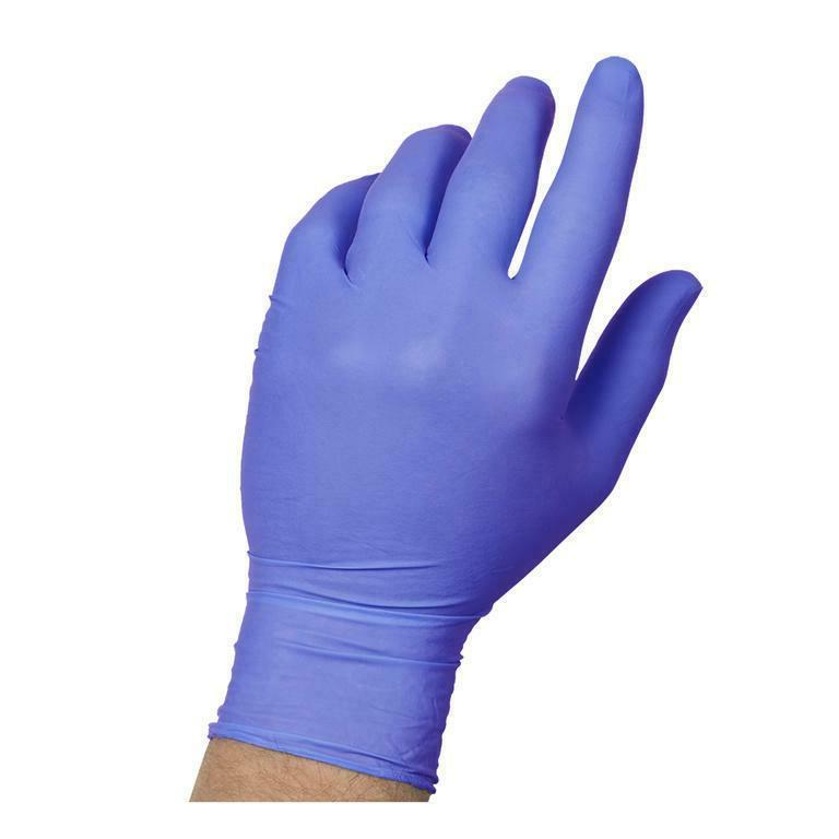 blue nitrile gloves 100ct box powder free