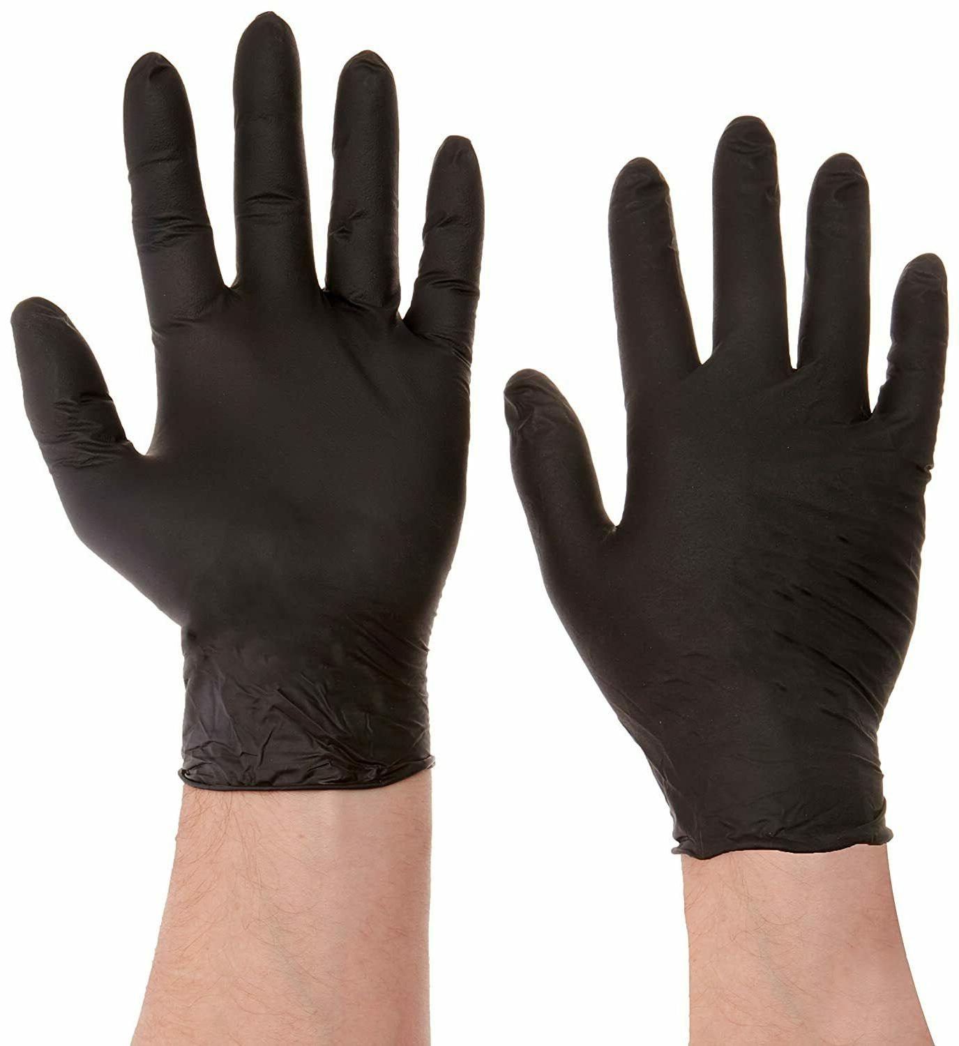 Aurelia Black Nitrile Gloves - -100/Box