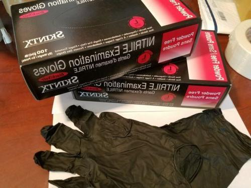 Box of 100 Nitrile Gloves Powder-Free. Large. Brand