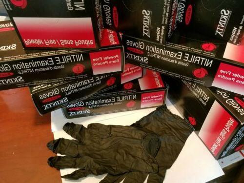 Box 100 Black Nitrile Powder-Free. Large.