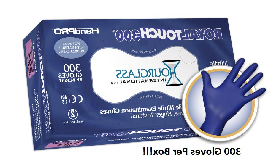 box of 300 royaltouch300 nitrile exam gloves